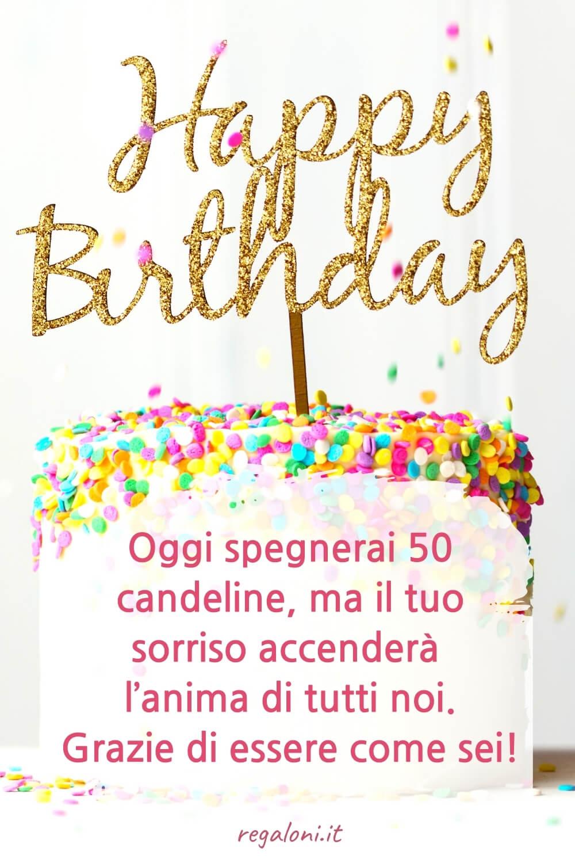 Frasi di auguri di compleanno 50 anni simpatici, uomo, amica